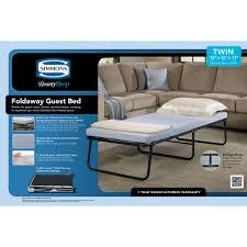 simmons beautysleep memory foam mattress folding foldaway extra portable guest bed cot 1 each walmart