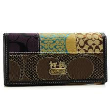 ... Coach Holiday Fashion Signature Large Black Wallets BSB