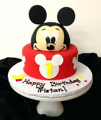 Baby Boy First Birthday Cake Ideas Mickey Mouse Cake Mickey Mouse