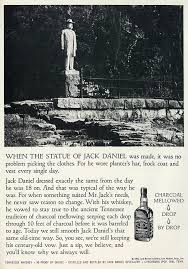 ad jack daniels tennesee whiskey statue of founder flickr 1969 ad jack daniels tennesee whiskey statue of founder jack daniel by classic film