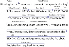 online sources citing information libguides at university of  article from a scholarly journal retrieved from an online database