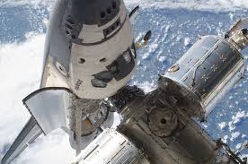 Image result for 1995 U.S. space shuttle docks with Russian space station