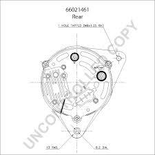 alternator product details leece neville 66021461 rear dim drawing