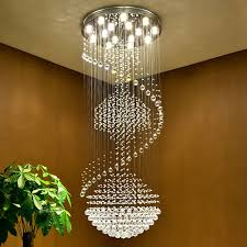 modern led chandeliers luxury chrome large k9 clear crystal chandelier lighting re cristal upscale re stairs