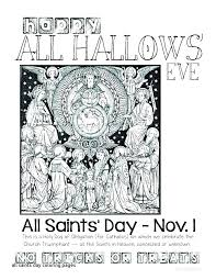 All Saints Day Catholic Coloring Pages Unique And Page Best Fall