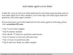 Real Estate Resume Cover Letter