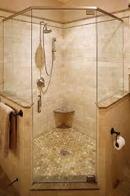 corner shower in master but with double shower heads and different