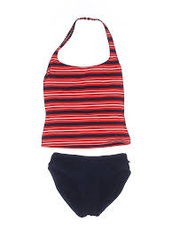 Details About Nautica Women Red One Piece Swimsuit 6