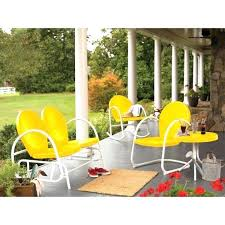 yellow patio furniture. Yellow Patio Furniture Retro Metal Chairs Colored Over Floor Choosing