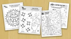 See more ideas about coloring pages, coloring books, animal coloring pages. Printable Activity Sheets For Restaurants During Quarantine C3