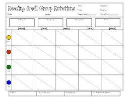 Small Group Weekly Planning Chart Reading