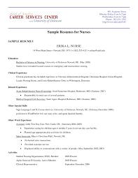 Sample New Nurse Resume Resume For Nurses Sample Sample Student