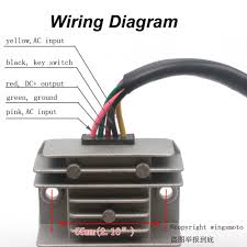 gy6 voltage regulator wiring diagram stophairloss me gy6 wiring diagram diagram 5 wires 1v voltage regulator rectifier motorcycle dirt bike atv gy6 50 150cc scooter moped jcl