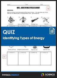 Quiz Identifying Types Of Energy