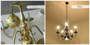 homemade chandelier cleaner unique lake luv house diy dated brassy to whimsical crystal