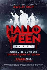 Costume Contest Flyer Template Halloween Party Flyer Templates