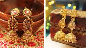 Gold Jhumka Designs For Bridal Latest Gold Earrings Designs Jhumka Designs Wedding