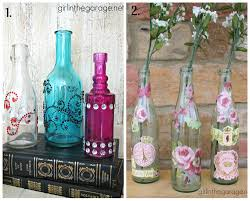 Ways To Decorate Glass Jars How Decorate Glass Jars Bejeweled Decoupage Bottles Collage 89