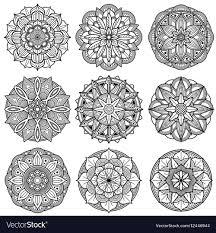 Mandala Indian Designs Indian Meditation Mandala Patterns Set