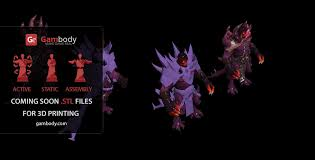 mysterious scale hero 3d model of shadow demon from dota2