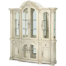 AICO Monte Carlo II China Cabinet in Silver Pearl Finish for ...