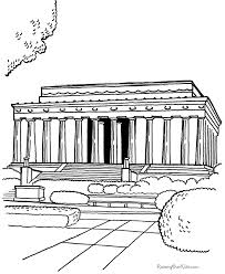 historic places lincoln memorial coloring page