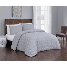 2 piece light grey twin comforter set