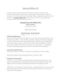 Program Security Officer Sample Resume Delectable Resume Format For Security Officer Mmdadco