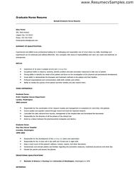 Resume Examples For Nursing Gorgeous New Graduate Nurse Resume Template Nurse Resume Sample New Graduate