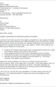 Leasing Consultant Jobs Cover Letter For Travel Consultant Position