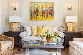 Decorating With Yellow Better Homes Gardens Magnificent Yellow Living Rooms Interior