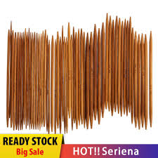 Ser* <b>55Pcs 11sizes 5</b>'' <b>13cm</b> Double Pointed Carbonized Bamboo ...