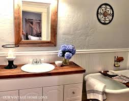 our vintage home love master bath redo featuring reclaimed barn wood