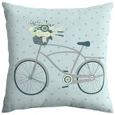 hampton bay surplus bike square outdoor throw pillow