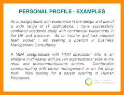 Cv Personal Profile Examples Personal Profile Examples For Students Sample Cv Retail