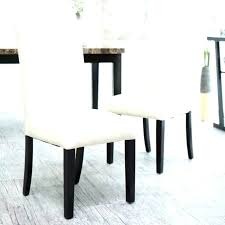White Leather Parsons Dining Chairs Parson Modern