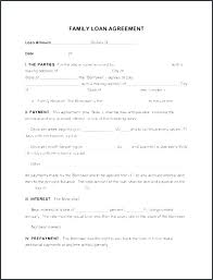 Money Loan Template Sample Contract For Borrowing Word