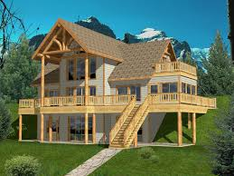 house plans country lake mountain home 83898 with garage