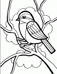 free 2014 sparrow coloring pages for kids to color in - Coloring Point