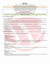 Android Application Developer Resume Sample Examples Download
