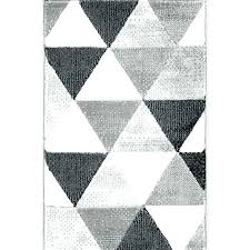 gray geometric rug sophisticated mid century modern retro shapes grey blue area rugs