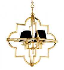 Casa Padrino Barock Luxus Kronleuchter 4 Flammig Jugendstil Gold Schwarz Möbel Lüster Leuchter Hängeleuchte Hängelampe