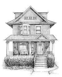 architectural buildings drawings. Custom Home \u0026 Building Portraits By Cape Horn Illustration Architectural Buildings Drawings