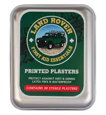 set of 30 land rover mens printed plasters