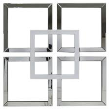 white and mirrored furniture. manama white mirrored geo wall art and furniture e