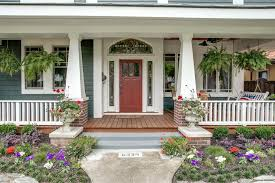 High Quality Front Porch Column Ideas Front Porch Columns Porch Craftsman With Flowers  Hanging Plants