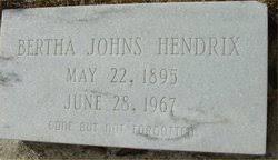 Bertha Johns Hendrix (1895-1967) - Find A Grave Memorial