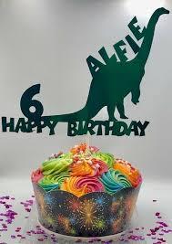Dinosaur Birthday Cake Topper Any Age Any Name Ebay