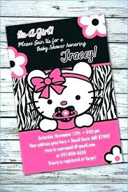 Hello Kitty Invitation Printable Hello Kitty Baby Shower Invitations Printable Invitation Template