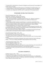 child psychologist resume